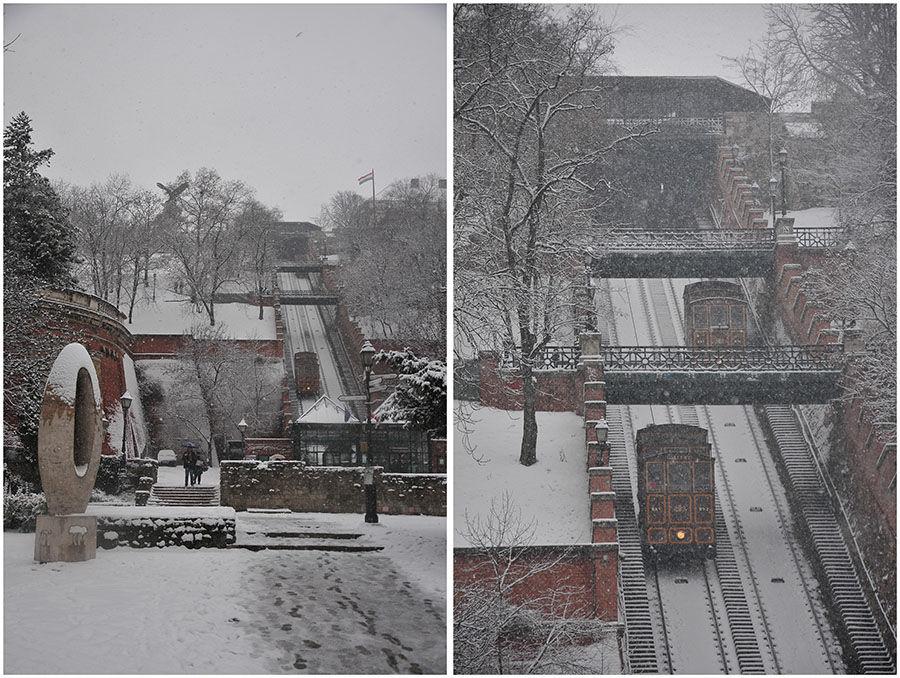 Budapest sous la neige, tram