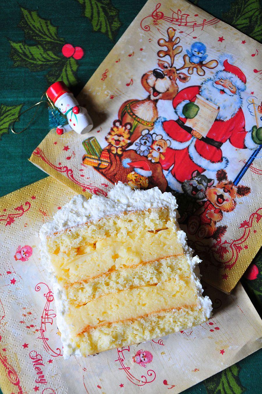 Bûche pâtissière coco-citron, Noël