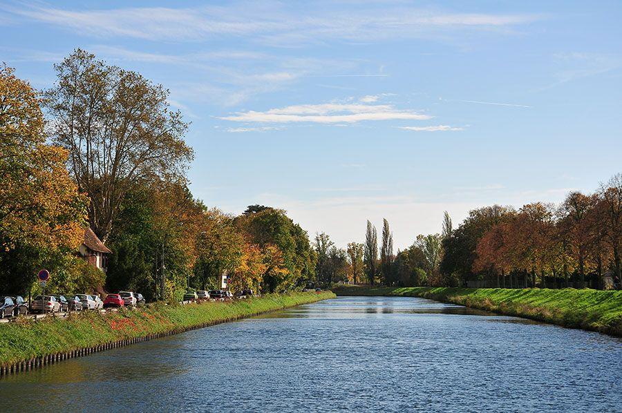 arrivée Strasbourg, canaux