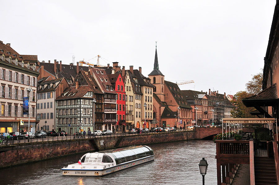canaux, vers petite france, strasbourg