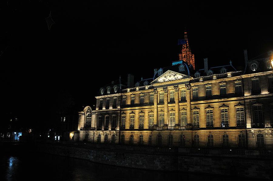 palais des rohan, nuit, strasbourg