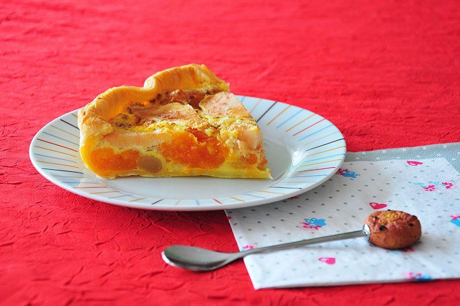 tarte poires et abricots