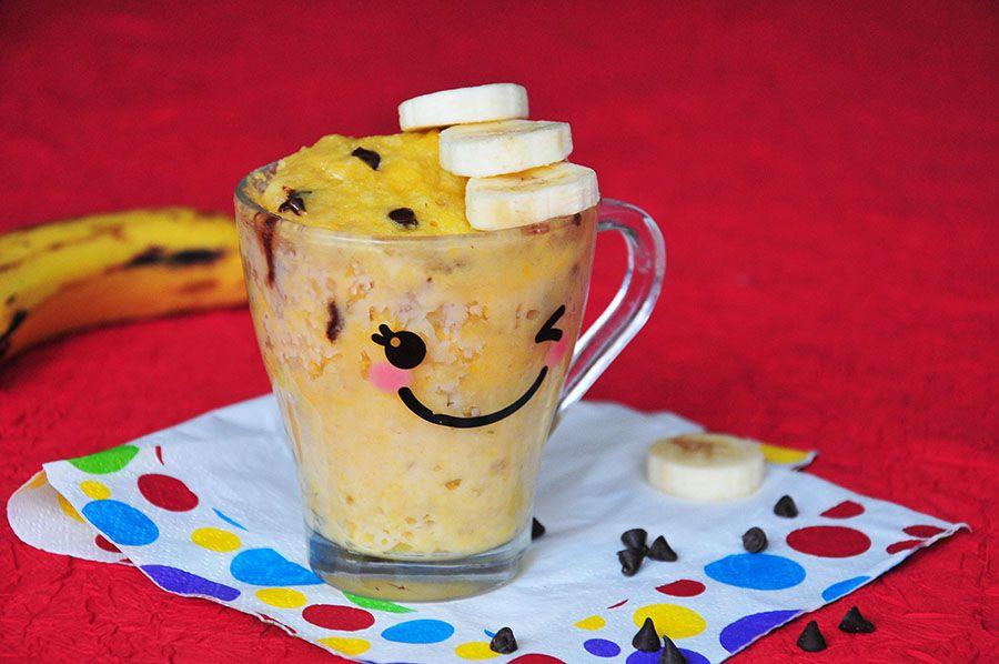 Mug Cake A La Banane Et Aux Pepites De Chocolat