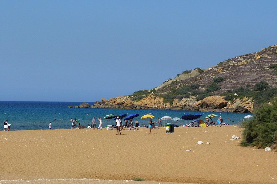plage, Gozo, Malte