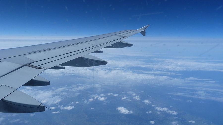 réserver avion avance, vue de l'avion