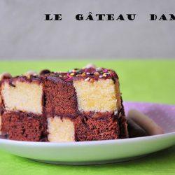 gâteau caché, damier, recette