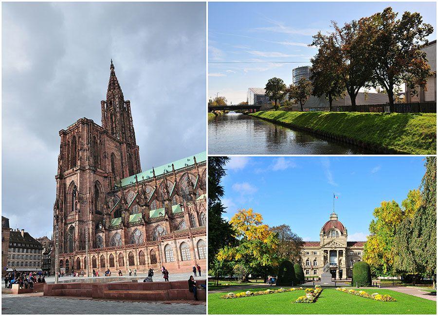 strasbourg, cathédrale, batellerie, canaux