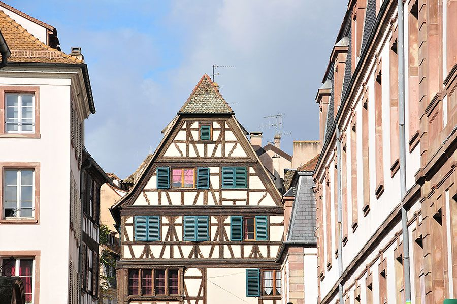 maisons à colombages, strasbourg