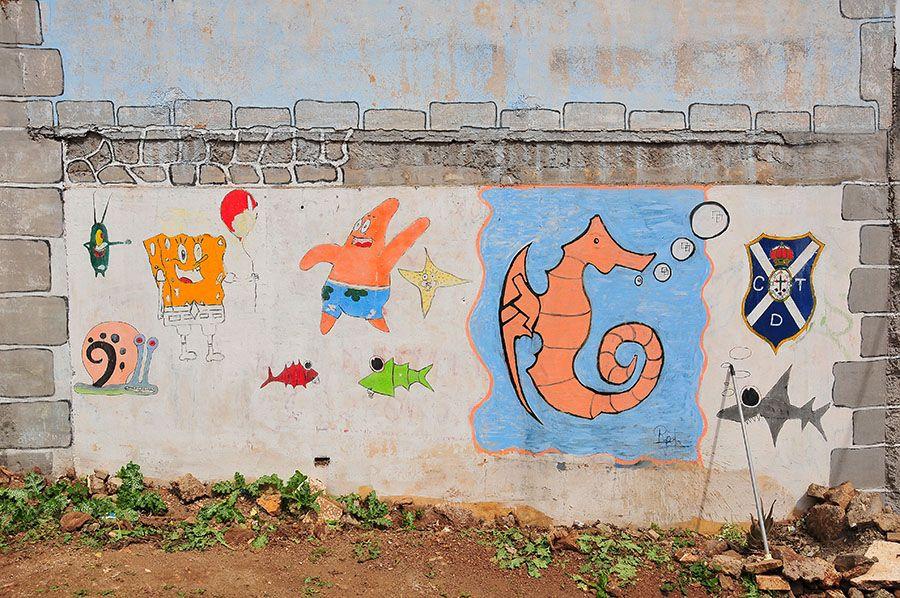 street art la laguna, canaries