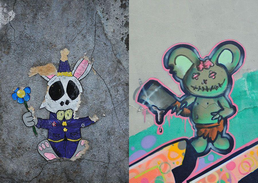 street art, canaries