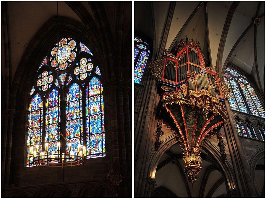 cathédrale Strasbourg, orgue et vitraux