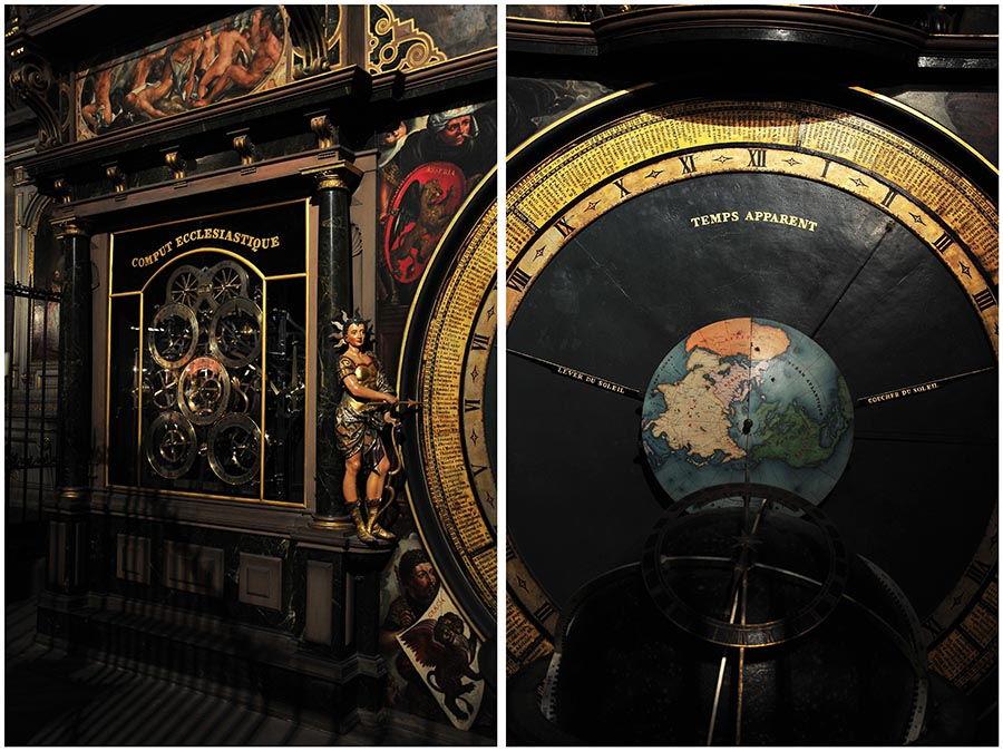 cathédrale strasbourg, horloge astronomique