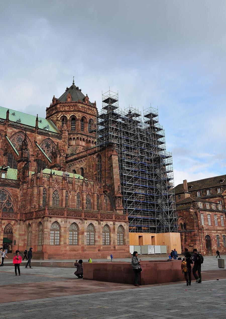 cathédrale Strasbourg, façade extérieure