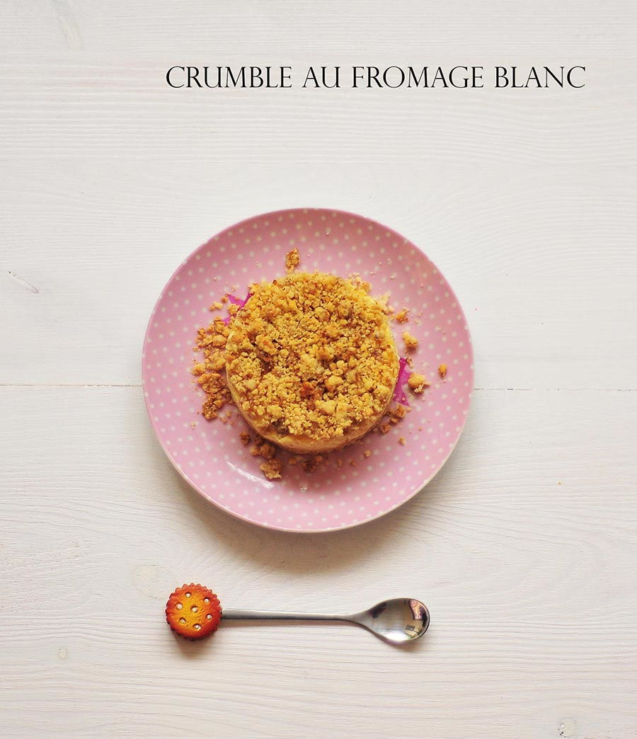 crumble au fromage blanc