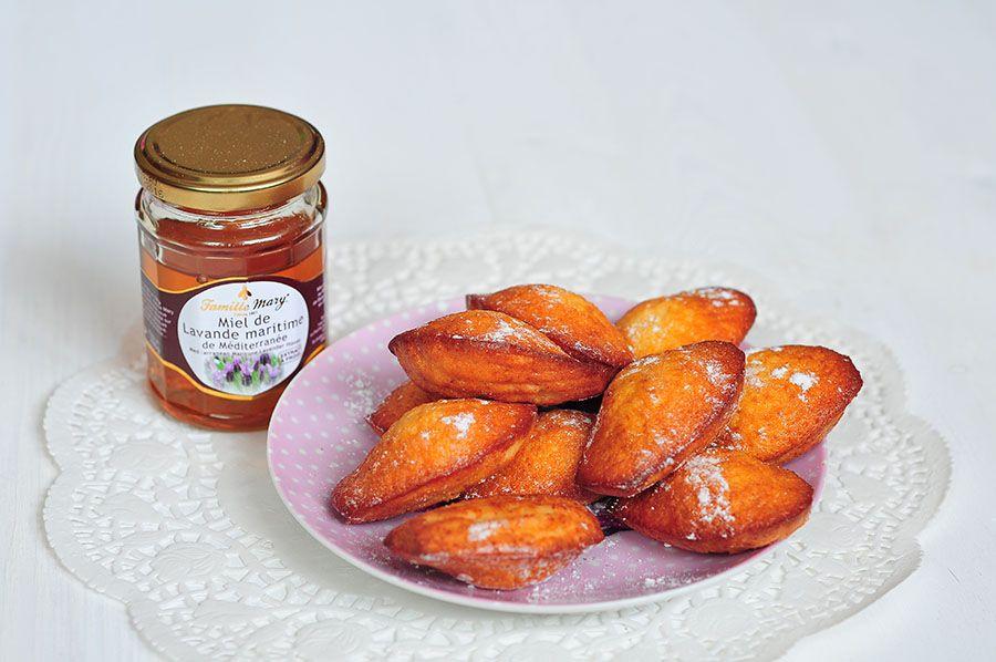 Madeleines au miel de lavande