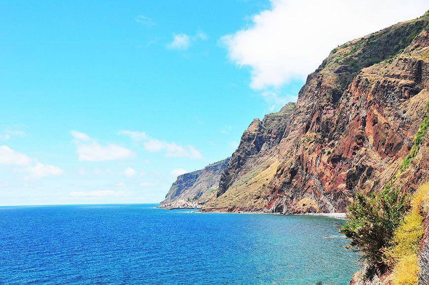 madère falaises