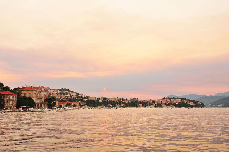 Coucher de soleil à Dubrovnik