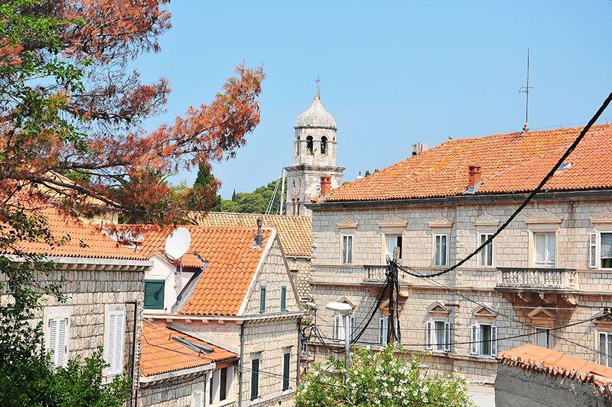 Panorama de Cavtat en Croatie