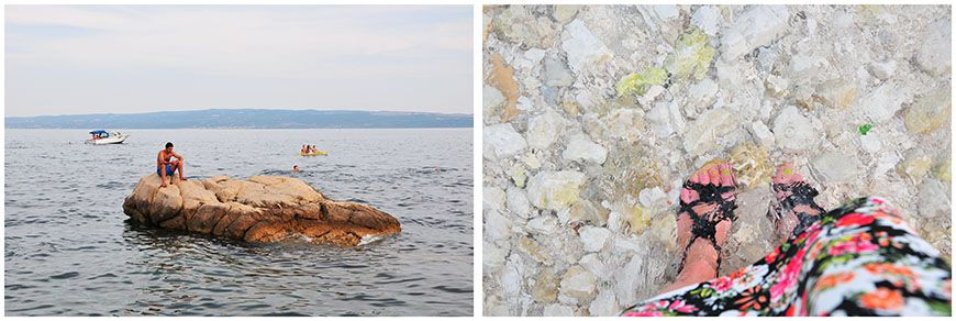 Plage de Split Croatie