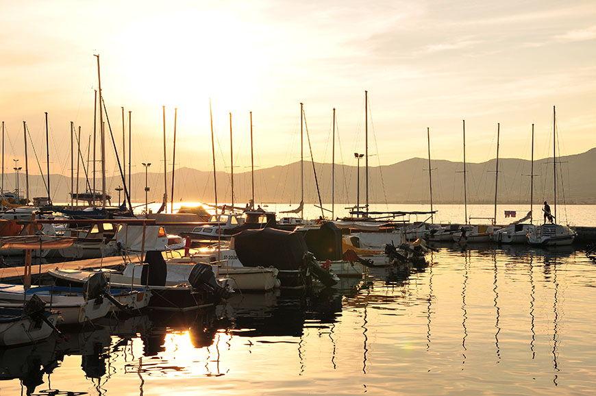 Coucher de soleil depuis la marina de Split