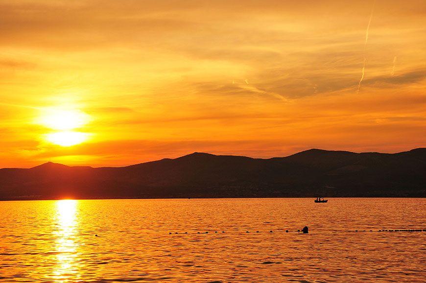 coucher de soleil à split
