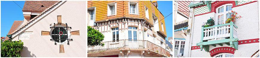 façades de la ville le touquet