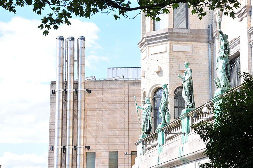 Jardin des sculptures, à Bruxelles