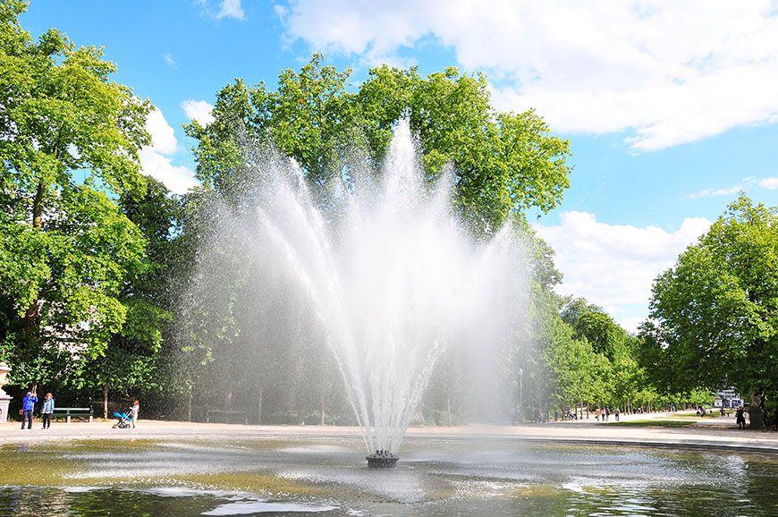 Parc Royal, fontaines, Bruxelles