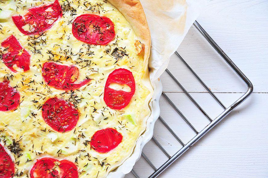 quiche aux courgettes et aux tomates
