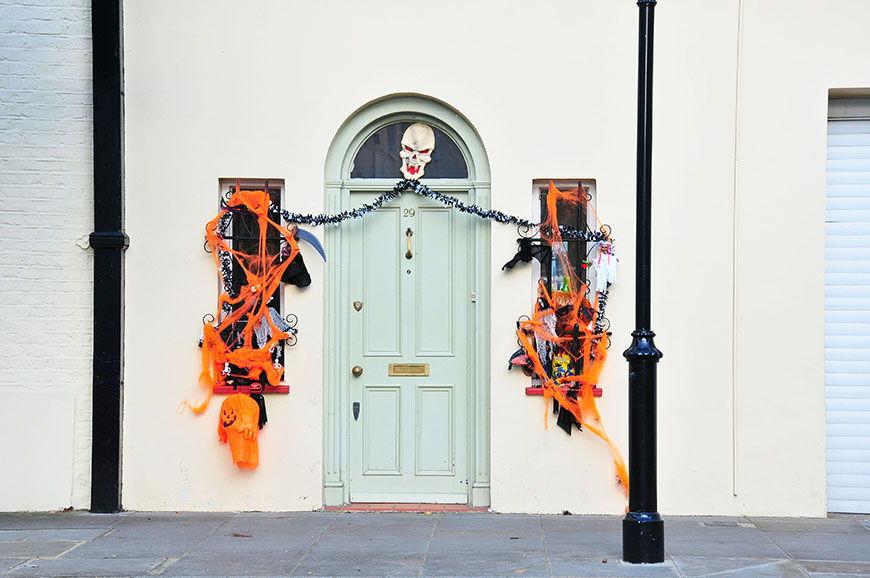 notting hill londres maison décorée pour halloween