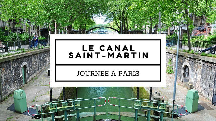 le long du canal saint-martin à paris
