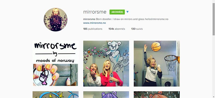 instagram mirrors me