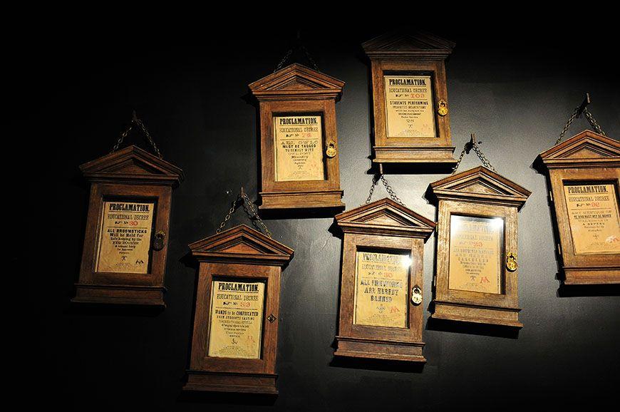 studios harry potter pancartes Rusard