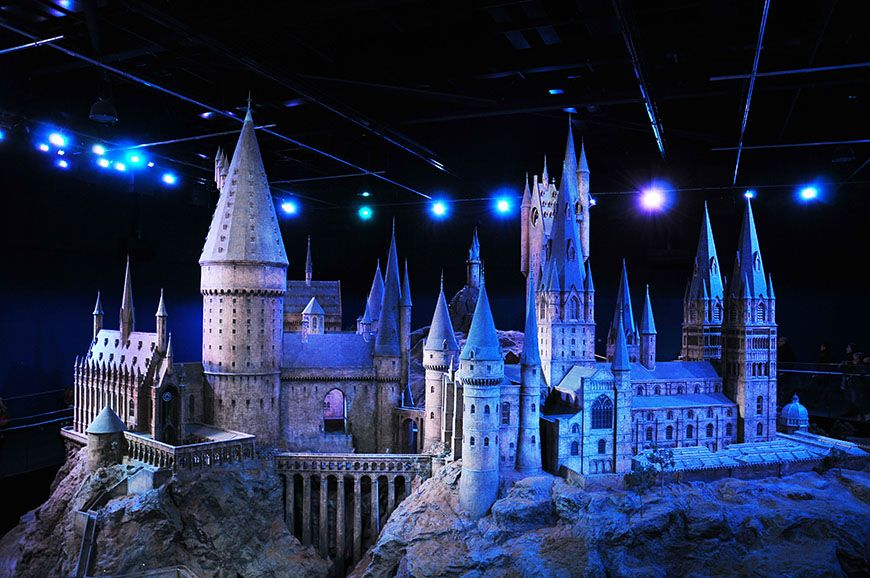 studio harry potter maquette poudlard