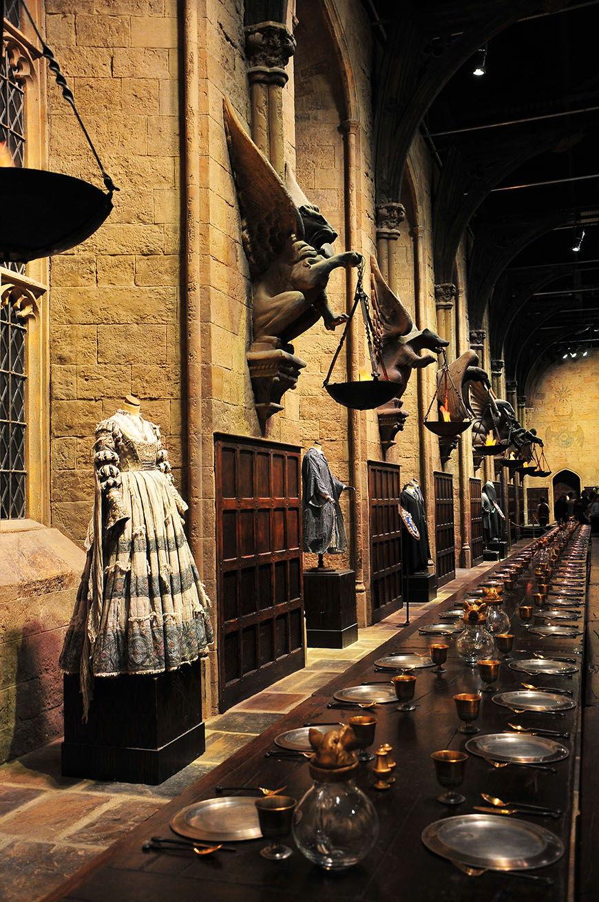 studios harry potter costumes et grande salle