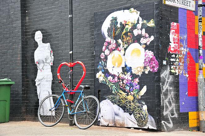 street-art dans le quartier de shoreditch à londres