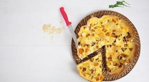 Quiche butternut – feta – amandes