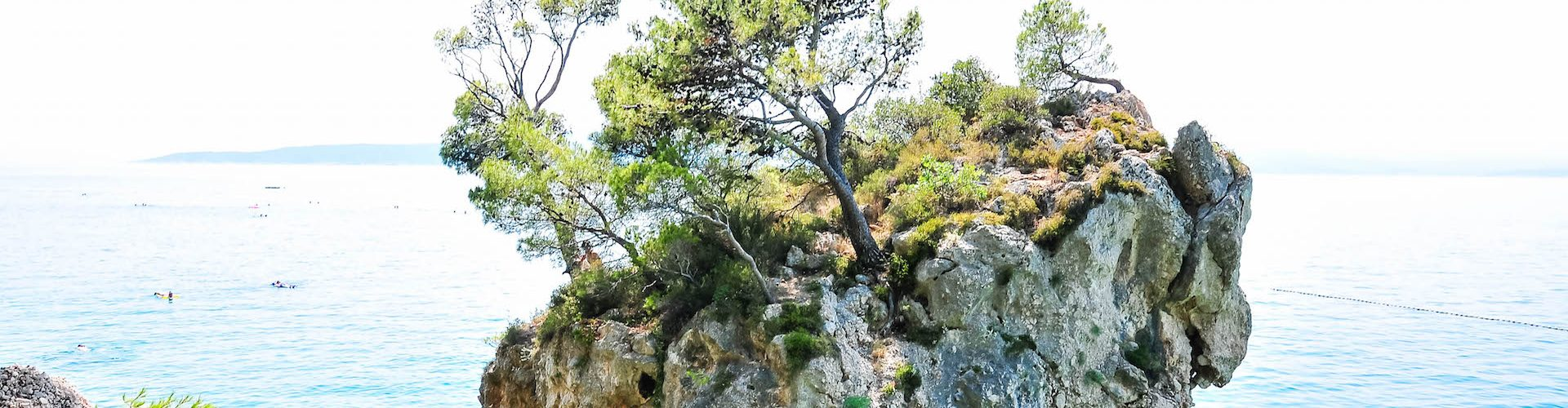 rocher de brela, croatie
