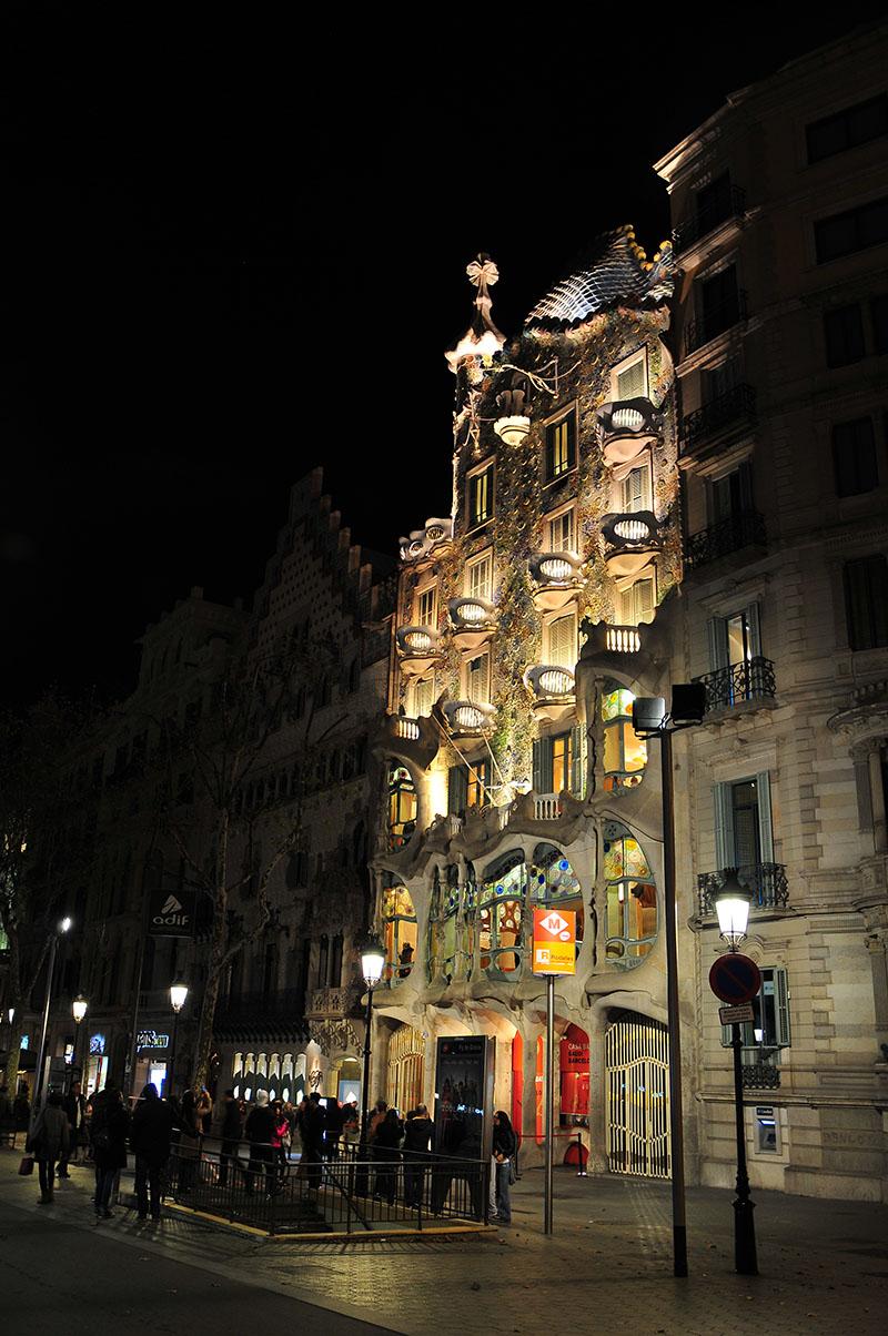 casa batllo barcelone, passeig de gracia