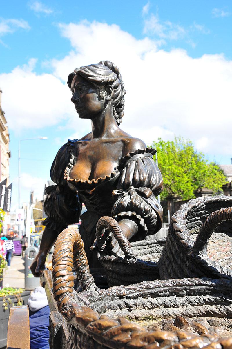 statue de molly malone, dublin