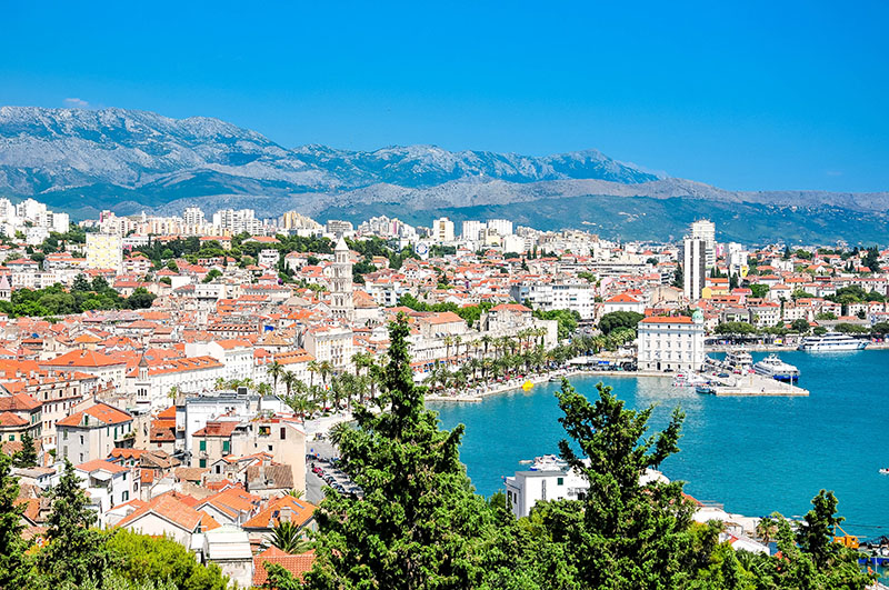 vue sur split, croatie