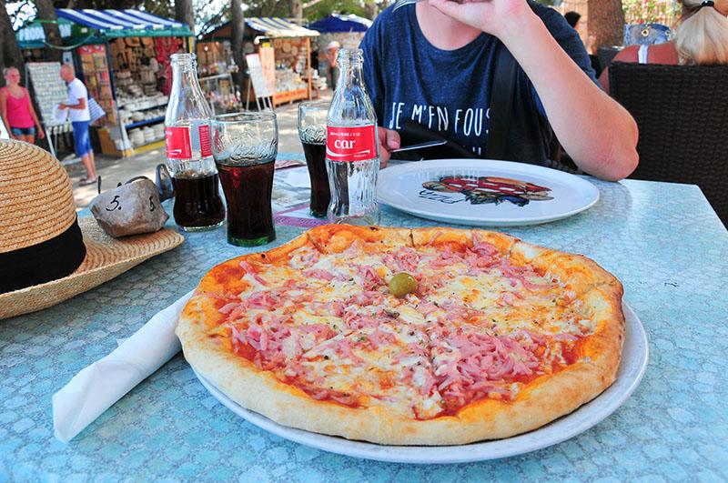 pizza en croatie