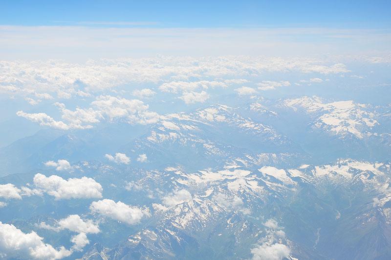 arrivée sur split, vue de l'avion