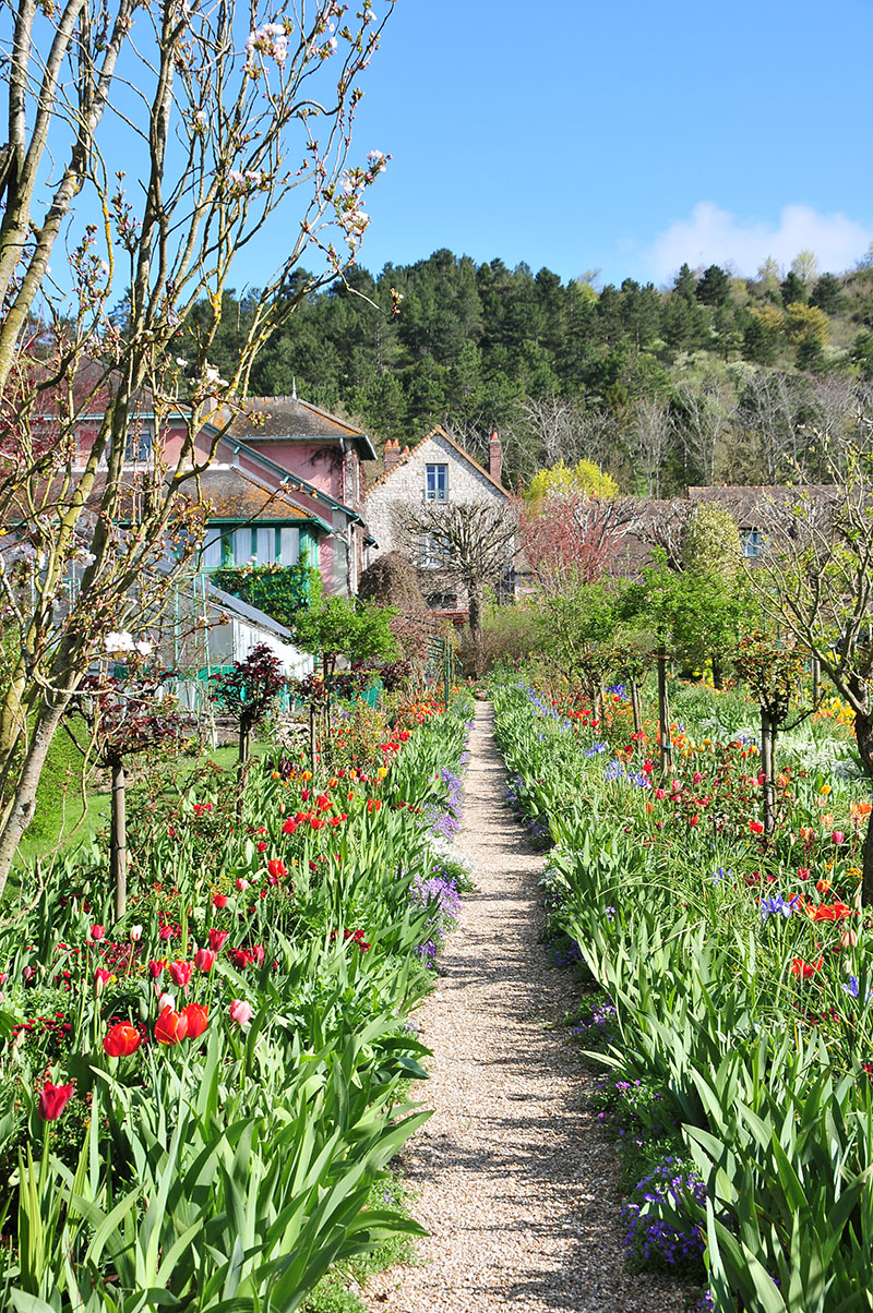 jardins de monet, giverny, printemps, maison de monet