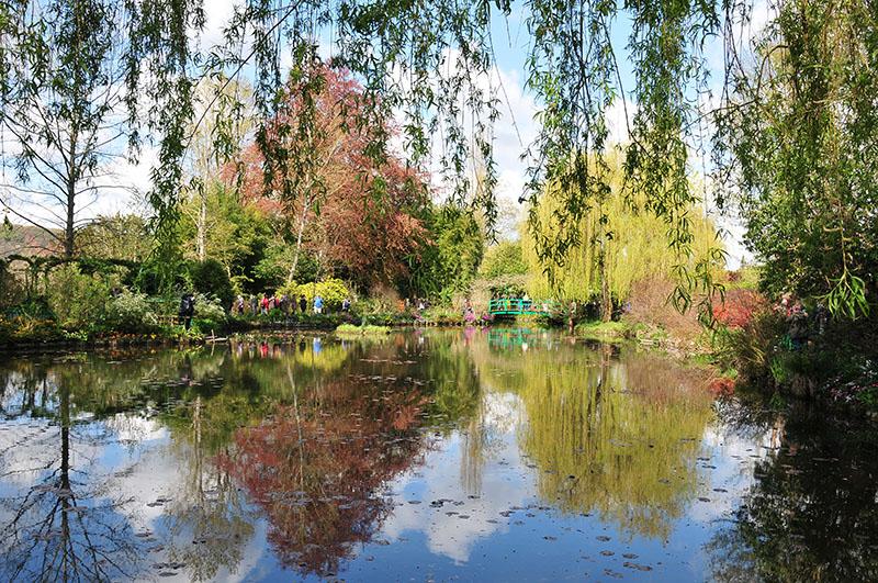 jardins de monet, giverny, printemps, étang des nymphéas