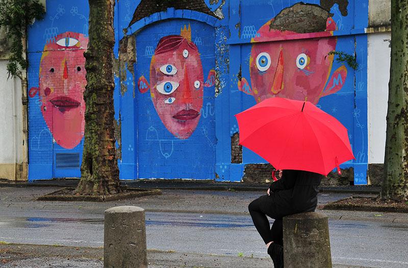 oeuvre de baptiste oster, rue léon blum, pour le festival ceci n'est pas un tag 2