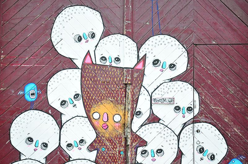 """moogli, street-art, festival """"Ceci n'est pasun tag 2"""" à Saint-Quentin"""