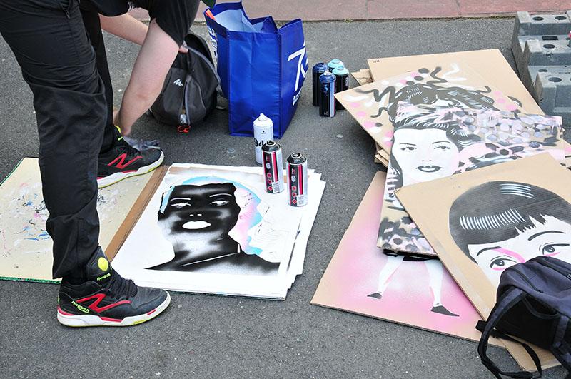 "paul fayt-, street-art, festival ""Ceci n'est pasun tag 2"" à Saint-Quentin"