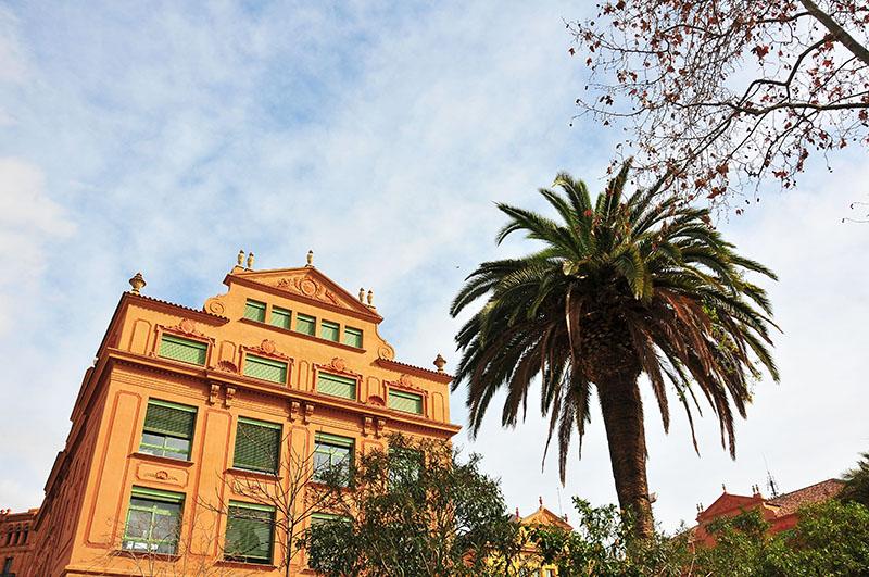place de l'arc de triomphe, barcelone