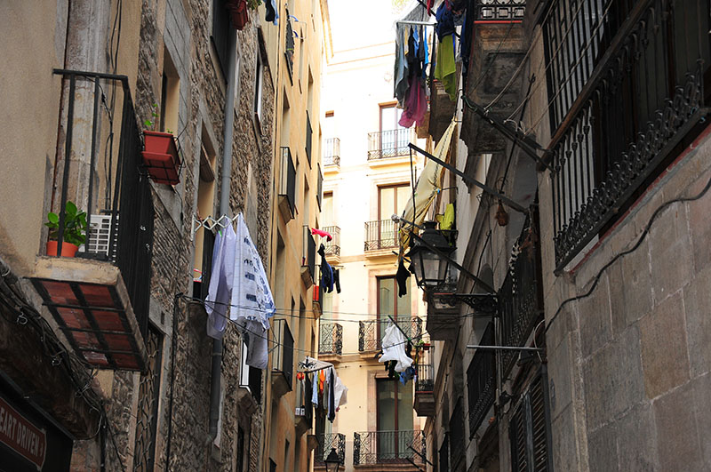 rues du quartier el born (ribera), barcelone